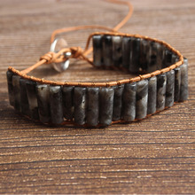 LanLi natural Jewelry made in China labradorite stone knit  bracelet men and women Giving presents and self use ib 0078 new and made in china sensor