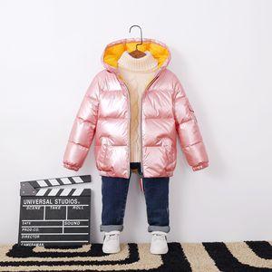 Image 3 - 2020 패션 가을 겨울 소년 아기 코트 오리 자 켓 야외 의류 방수 옷 소녀 아이 Snowsuit 등반