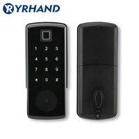 Bloqueio eletrônico da porta do aplicativo ttlock  fechamento keyless esperto de digitas bluetooth do aplicativo  fechadura da porta da senha do código do teclado|Trava elétrica| |  -