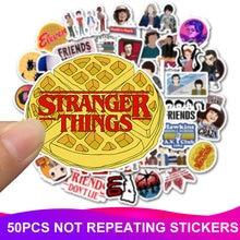 50pcs/Pack Stranger Things Laptop Stickers Waterproof Skateboard Suitcase Snowboard Fridge Phone Sticker Kids Reward Classic Toy