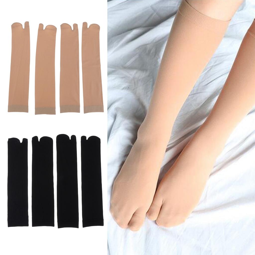 2 Pairs Unisex Japanese Toe Socks Kimono Flop Sandal Split Toe Tabi Ninja Socks