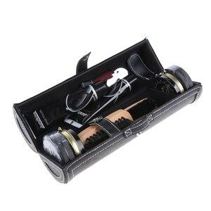 Image 3 - 10 Uds zapato Unisex Kit de cuidado profesional de zapatos botas brillo cepillo polaco Kit para hombres y mujeres