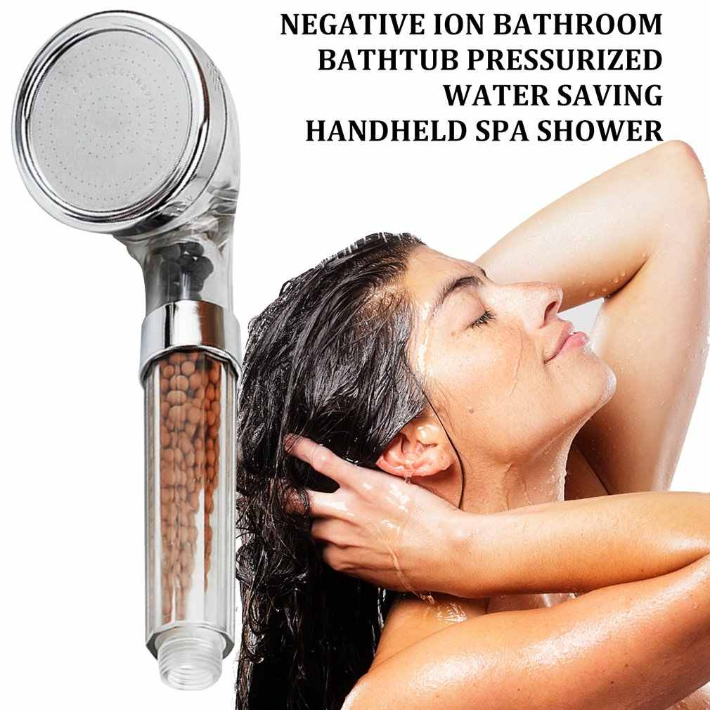 Negative Ion Shower Bathtub Pressurized Water Saving Large Handheld Spa Shower Head Water-saving Shower Set