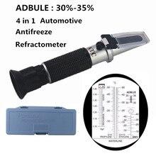 4 em 1 atc refratômetro anticongelante líquido de refrigeração tester adblue motor propileno etilenoglicol detector carro limpo teste de bateria