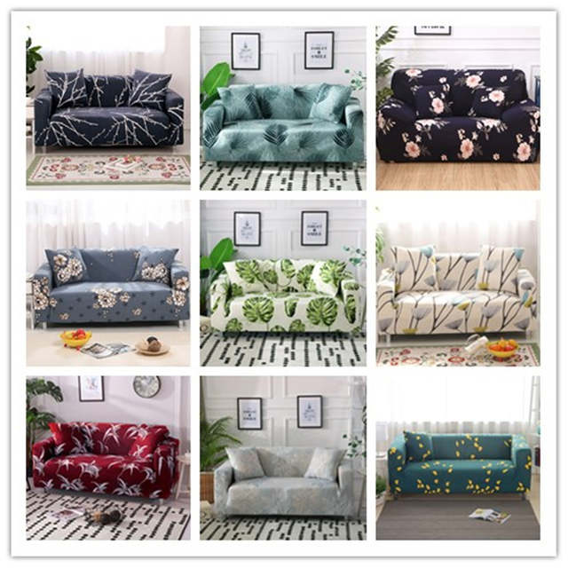 Slipcovers Sectional Elastic Sofa Cover