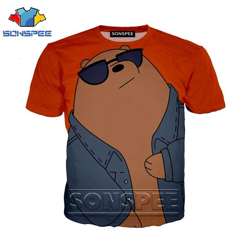 Anime 3d print t shirt streetwear funny tops new bare bears Men Women fashion t-shirt kids Harajuku kids shirts homme tshirt A91