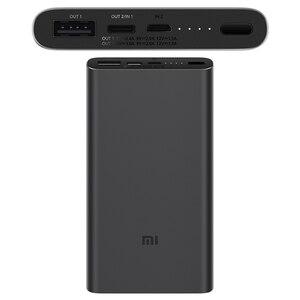 Image 2 - Xiao mi mi Accumulatori e caricabatterie di riserva 3 10000mAh USB C a due Vie carica rapida 18W batteria PLM12ZM mi jia Powerbank per il iPhone XS