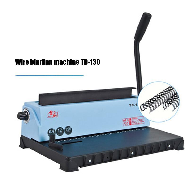 34 Square hole Wire binding machine TD-130 Small machine Big capacity books binding machine