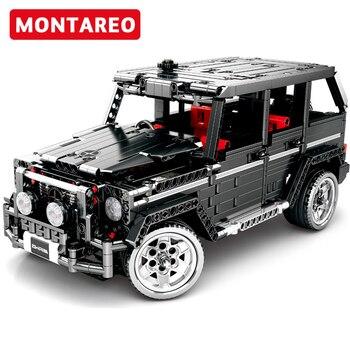 Sembo Blocks Compatible Technic RC Mechanical codeTechnic MOC SUV G500 AWD Wagon Car Sets  Building Blocks  kits kids Toys Gift