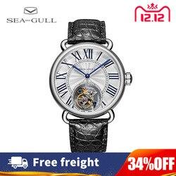 Часы с чайкой, мужские механические часы с турбийоном, женские парные часы с ручным заводом, механические часы из нержавеющей стали, часы 6035
