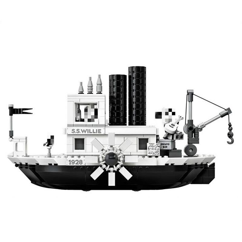 Legoinglys Disneying Hot Sale Mickeied Steamboat Willie Set Model Building Block Bricks Toy For Gifts Kids Christmas