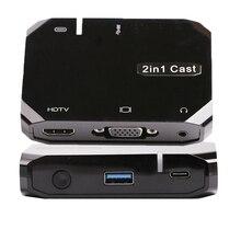 Sans fil Wifi USB câble de données 2in1 VGA HDMI adaptateur affichage Airplay téléphone à la télévision HDTV pour iPhone XR Xiaomi Huawei P30 iOS Android