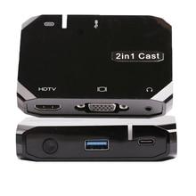무선 와이파이 USB 데이터 케이블 2in1 VGA HDMI 어댑터 디스플레이 Airplay 전화 아이폰 xr에 대한 TV hdtv에 Xiaomi 화웨이 P30 iOS 안드로이드