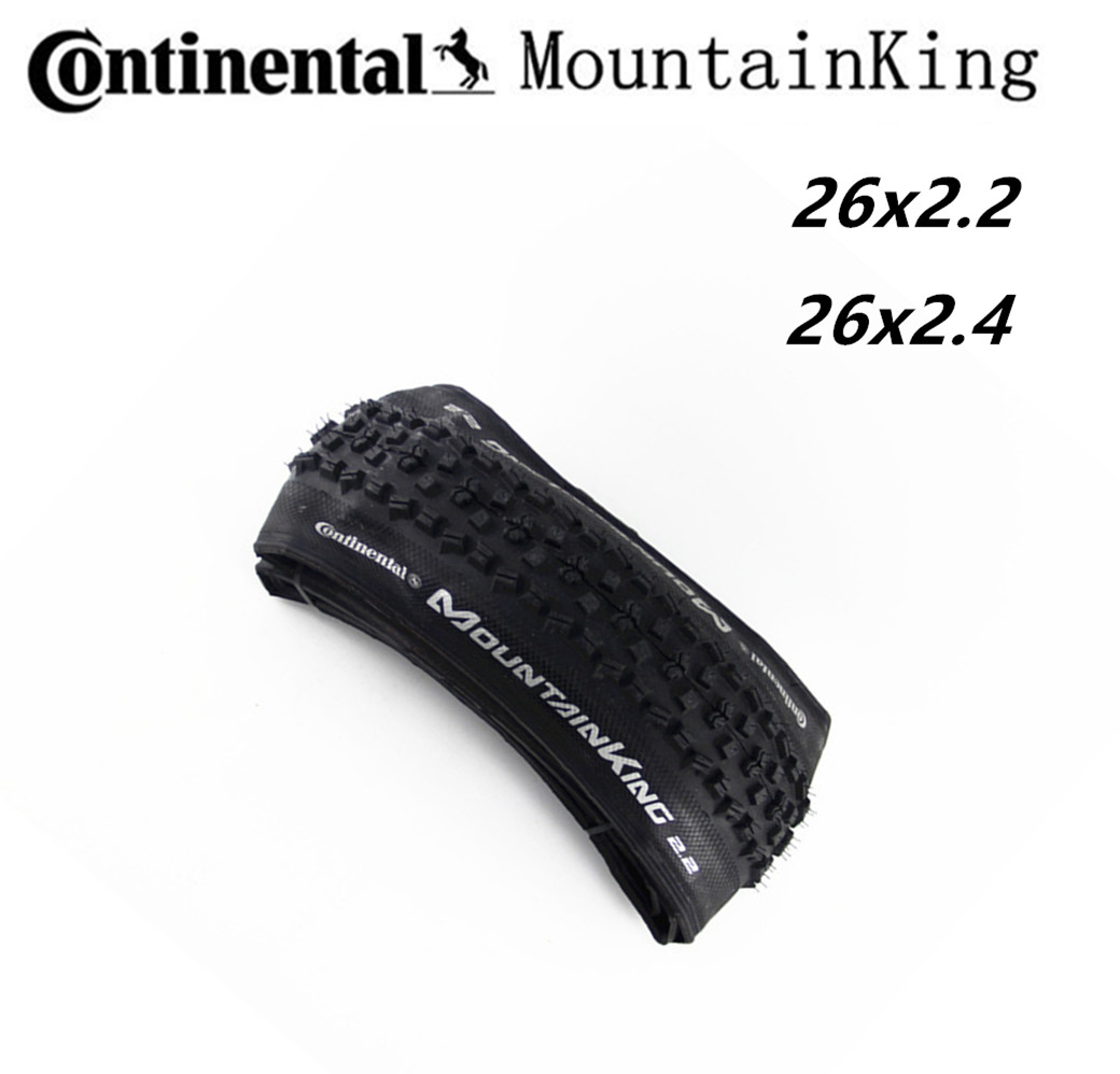 Continental Tyre Mountain King Tire MTB Bicycle <font><b>26x2.2</b></font> 26x2.4 in Tubular Tire MTB bike Foldable Tyre Black image