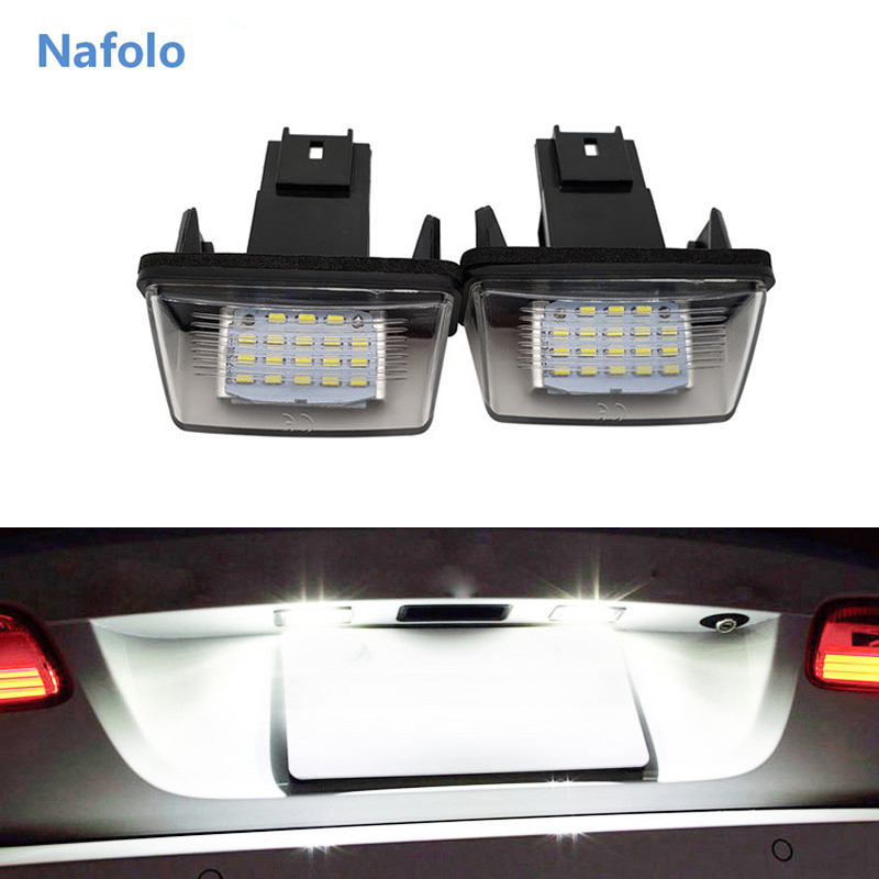 2x 12V <font><b>LED</b></font> Number License Plate Light Lamp For <font><b>Peugeot</b></font> <font><b>206</b></font> 207 306 307 406 407 For Citroen C3 C4 C5 Car License Plate Light image