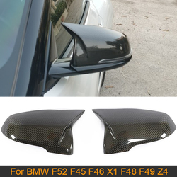 Carbon Fiber Car Rearview Mirror Covers Caps for BMW F52 F45 F46 X1 F48 F49 Z4 For Toyota Supra Horn Replace Mirror Covers Caps