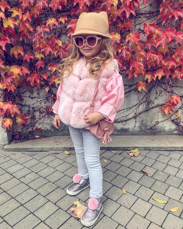 Fashion Baby Kids Girls Winter Warm V Neck Faux Fur Vest Waistcoat Tops Outwear Jackets Pink