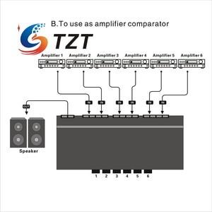 Image 2 - TZT ستة طريقة مكبر صوت ستيريو مفتاح جهاز انتقاء مكبر للصوت محدد ثنائي الاتجاه انتقائي الجلاد B898