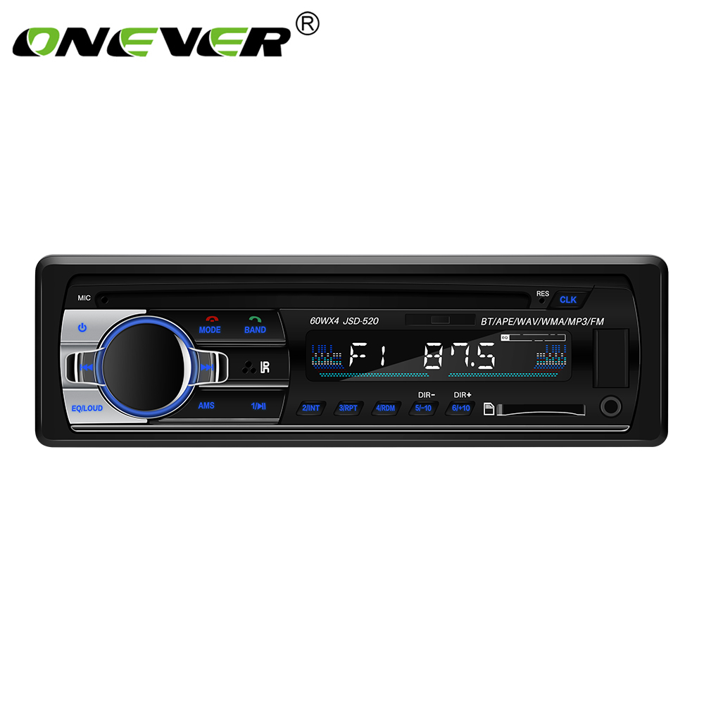 TiOODRE Bluetooth Car Stereo Audio In-Dash FM MP3 Radio Player DC 12V USB MP3 MMC WMA FLAC Car Radio Player with AUX-IN SD USB image