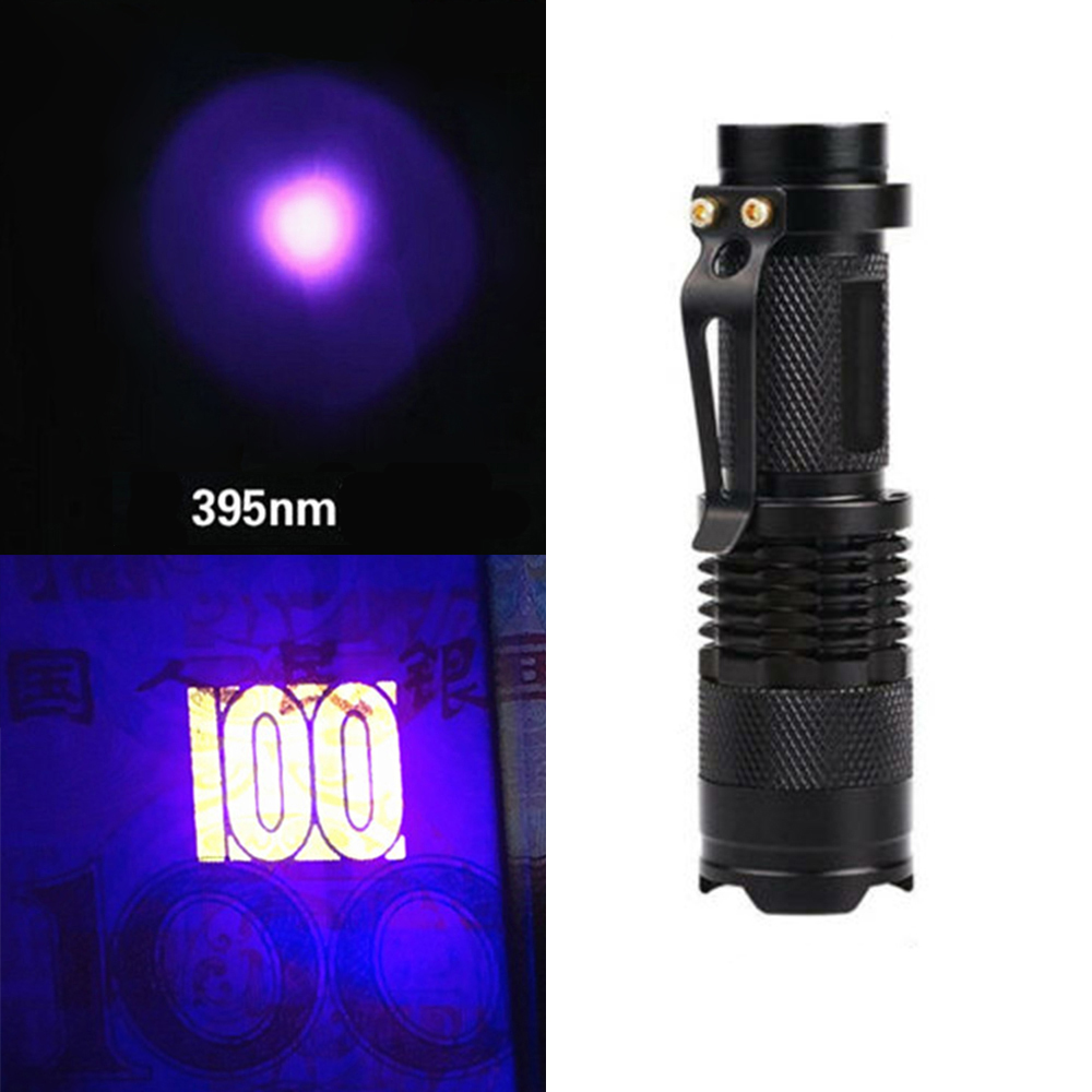80 150mcd Led Uv Black Light Flashlight Agent Detection Lamp Inspection Torch Flashlights