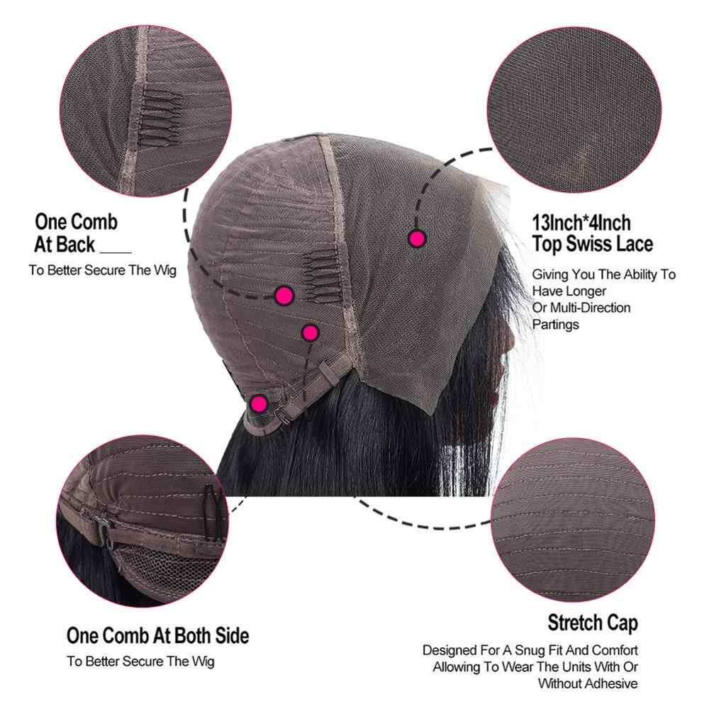Liddy Wig peruki z krótkim bobem brazylijski koronki przodu peruki z ludzkich włosów 13x4 prosto Burgundy 100% peruki z ludzkich włosów 99j nie remy peruki