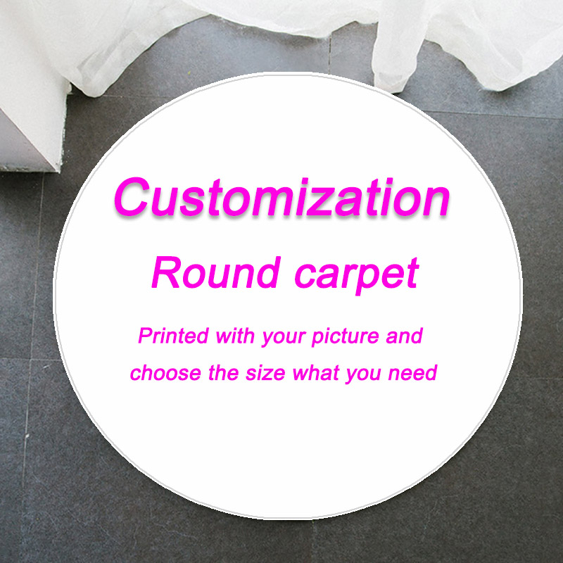Customization Round Rug Carpet For Living Room Decor Thicken Flannel Carpet Kids Room Small Area Rugs For Bedroom Soft Area Rug