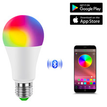 Smart Dimmbare LED Smart Lampe Hause Bluetooth Birne E27 Basis AC 85-265V RGBW RGBWW Neon Glühbirne musik Bluetooth 4,0 APP Control