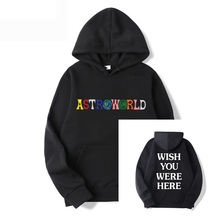 Music Hoodie Pullover Travis Scott You-Were-Here World Astroworld-Printed Artist Casual