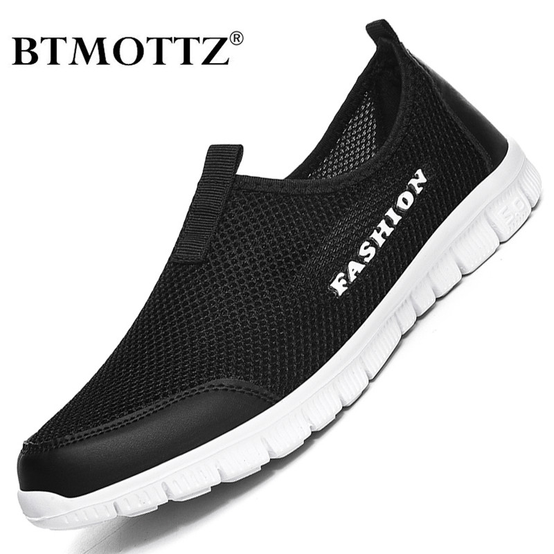 Summer Mesh Men Shoes Lightweight Walking Sneakers Men Fashion Breathable Slip On Water Male Casual Shoes Unisex Mens Loafers