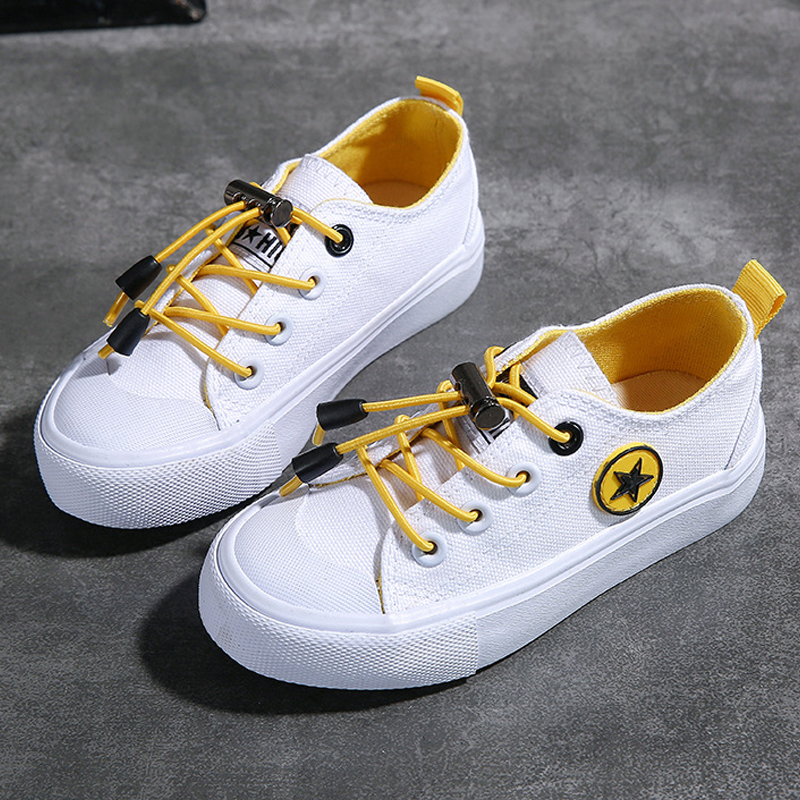 Children's Canvas Shoes 2020 New Spring And Autumn Kids Fashion Sneakers Baby Single Shoes Breathable Low Top White Casual Shoes
