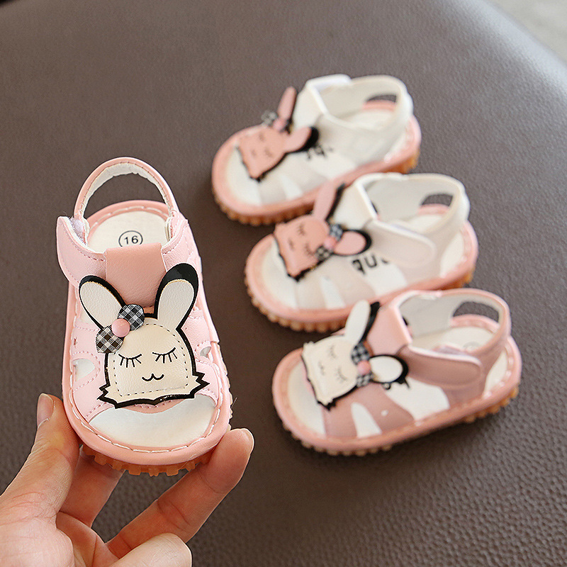 2020 Summer New Baby Girls Sandals 0-12M Soft-Sole Infant Toddler Girls Summer Shoes Leather Clogs 11.5cm-13.5cm