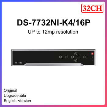 h Original Hikvision nvr 32ch 16ch PoE DS-7732NI-K4/16P 1.5U 4K Supports decoding H.265+/H.265/H.264+/H.264 video formats