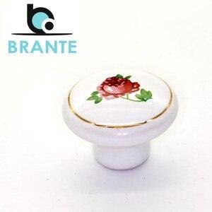 Комплект 4 ручек-кнопок Brante RK.1427.WT.F29 роза