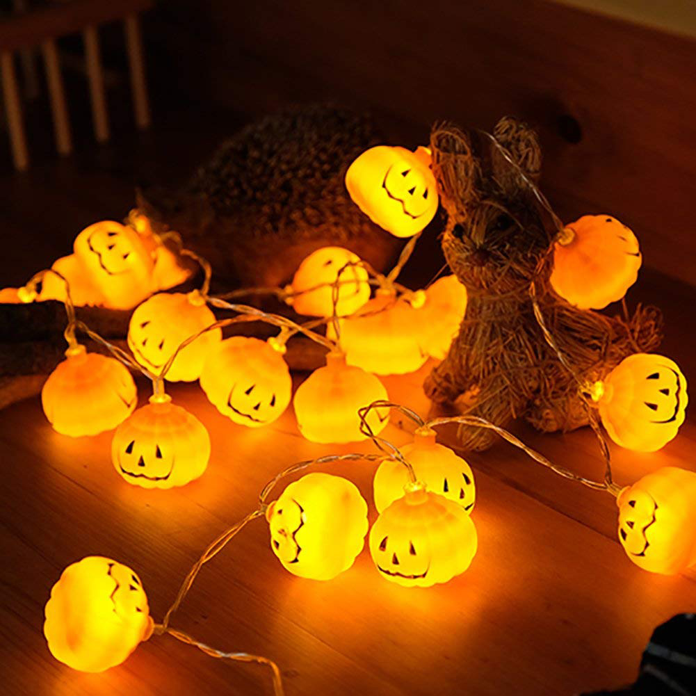 XYXP 1M/2M/3M Halloween Pumpkin LED String Lights Garden Home Party Decoration Holiday String Light Halloween Lights