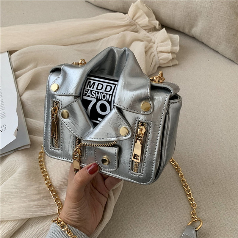 Vertvie Fashion Women Handbag Motorcycle Bags Outdoor Shoulder Messenger Bag PU Leather Handbag Casual Shoulder Bag Female