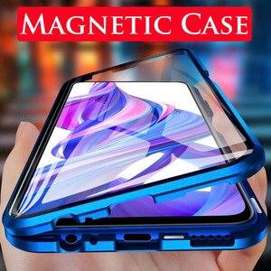 Image 1 - 360 magnetische Adsorption Flip Telefon Fall auf Für Huawei Ehre 9X 20 Pro 20 Lite 10 Licht Zurück Abdeckung Für honer 9 X X9 Honor9X Fällen