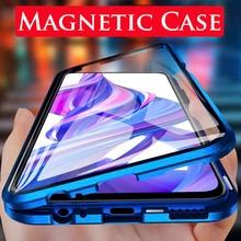 360 manyetik adsorpsiyon Flip telefon kılıfı için Huawei onur 9X 20 Pro 20 Lite 10 ışığı arka kapağı onur 9 X X9 Honor9X kılıfları
