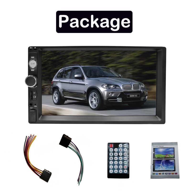 """Rodzina samochodów 2 Din Radio samochodowe 7 """"HD auto audio samochodowe stereo MP5 odtwarzacz ekran dotykowy Autoradio Multimedia bluetooth usb TF FM 7010B"""