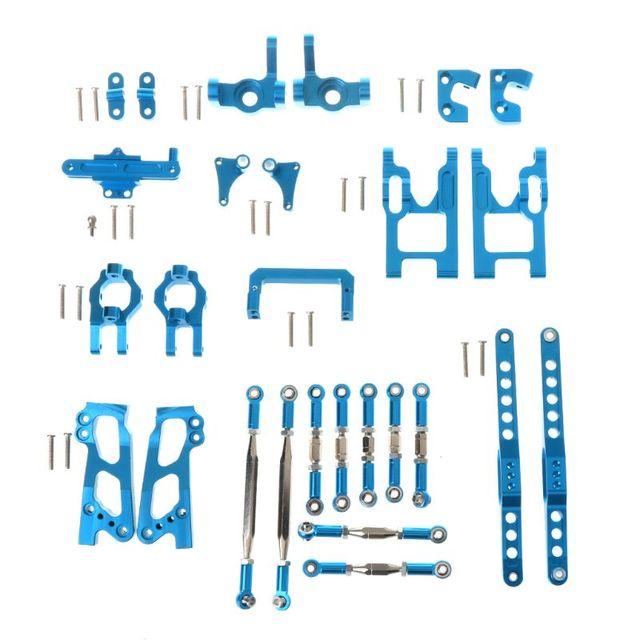 Tam yükseltme Metal kiti FY03 WLtoys 12428 12423 1/12 RC Buggy araba yedek parçaları