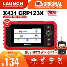 Launch X431 Crp123X Obd2 Scanner Auto Code Reader Car Diagnostic Tool Eng Op Abs Srs Diagnostic Scanner Automotive Tool Crp123
