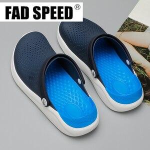 Image 3 - 2020 Men Sandals Crocks LiteRide Hole Shoes Crok Rubber Clogs For Unisex EVA Garden Shoes Black Crocse Adulto Cholas Hombre