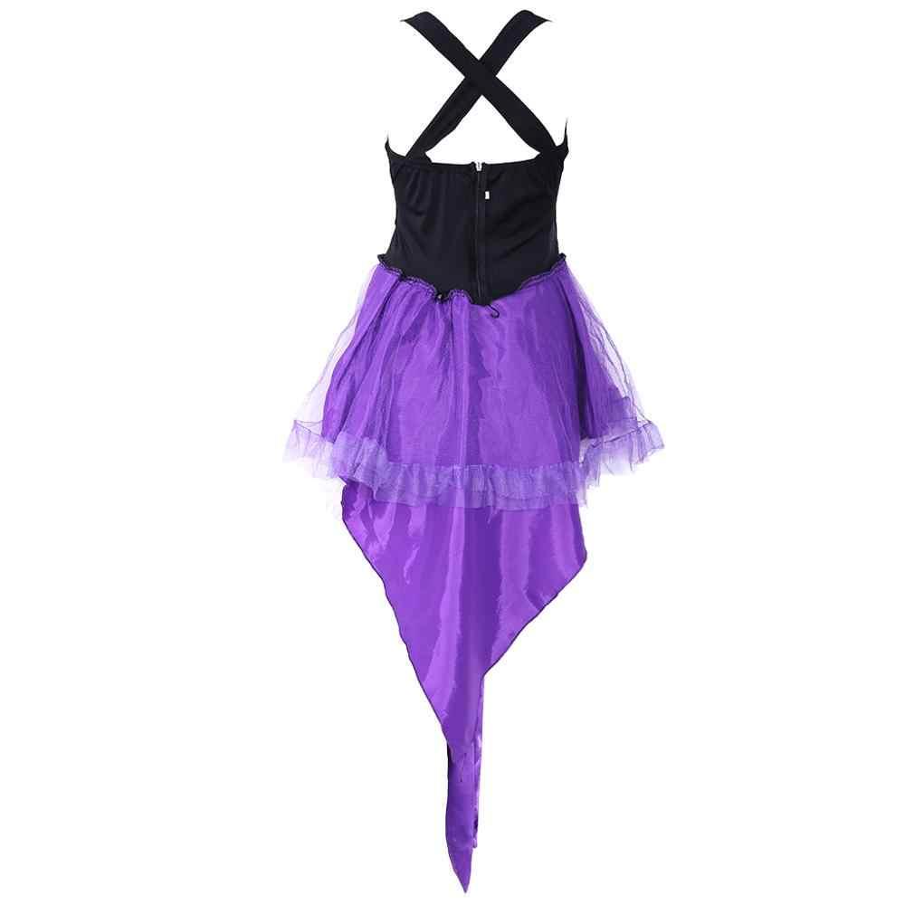 Платье-пачка без рукавов с ласточкиным хвостом для женщин на Хэллоуин; маскарадные вечерние костюмы Феи для костюмированной вечеринки; нарядный костюм со шляпой; браслет