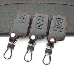 Skórzane kluczyk samochodowy z pilotem ochraniacz uchwytu dla Toyota Camry Corolla Avalon Rav4 Land Cruiser 2/3/4 do przycisków pokrywa breloczka z pilotem przypadku