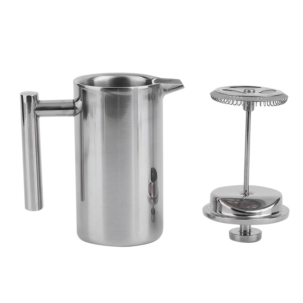 French <font><b>Coffee</b></font> Maker Stainless Steel Insulated <font><b>Coffee</b></font> Tea Maker Pot larger capacity Polished Delicate image