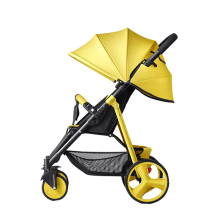 SLD Baby Stroller Salady High-view Foldable Shockproof Four-wheeled with Foot Basket Placing Articles