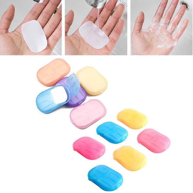 Home Travel Wash Hands Soap Paper Multifunctional Cleaning Hand Bacteria Scented Slice Sheets Foaming Soap Paper Disposable Soap