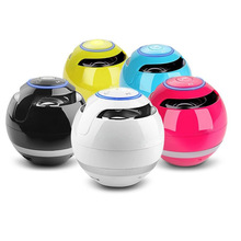 High-power bluetooth speaker super bass stereo ball player free phone TF card reader colorful LED smart tablet