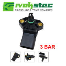 100% Test 3 Bar Manifold Pressure MAP Sensor For AUDI A2 A3 A4 A5 A6 A8 Q5 Q7 TT S5 S6 S8 1.4l 1.9 2.0 3.0 2.7 Tdi 038906051C