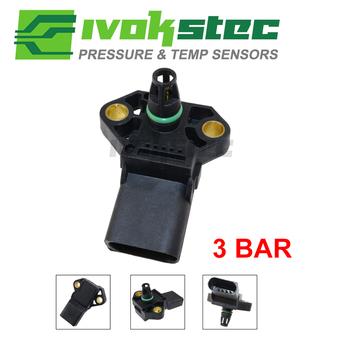 100 Test 3 Bar kolektora czujnik ciśnienia dla AUDI A2 A3 A4 A5 A6 A8 Q5 Q7 TT S5 S6 S8 1 4l 1 9 2 0 3 0 2 7 Tdi 038906051C tanie i dobre opinie IVOK Czujnik Ciśnienia Powietrza dolotowego CN (pochodzenie) 5N0145762AC 1J0145762R 03C129709S 3B0145835E 2H0145955A
