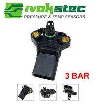 100% Test 3 Bar manifoldu basıncı için MAP sensörü AUDI A2 A3 A4 A5 A6 A8 Q5 Q7 TT S5 s6 S8 1.4l 1.9 2.0 3.0 2.7 Tdi 038906051C